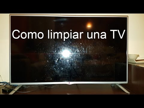 Como limpiar una pantalla de tv led muy sucia !!