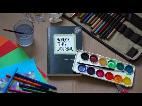Journal - Here are the things you should do: - Take a picture of yourself with your art supplies. - Post it on Twitter, Tumblr or Instagram. - Tag it with #wreckthisjo...