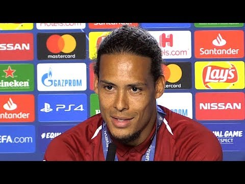 Virgil Van Dijk Man Of The Match Press Conference - Tottenham 0-2 Liverpool - Champions League Final
