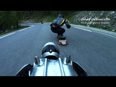 longboard downhill speed race: longboard vs rollerman!