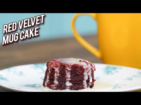 Red Velvet Mug Cake Recipe – How to Make Egg-less Mug Cake – 2 Mins Mug Cake Recipe – Bhumika
