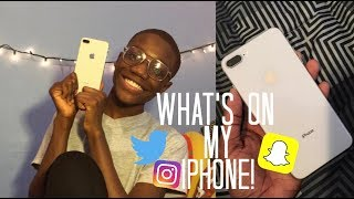 WHATS ON MY IPHONE 8 PLUS 2018!