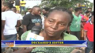 There was confusion on New Lagos Road by Eghosa Grammar School Benin City following the discovery of the body of a woman...