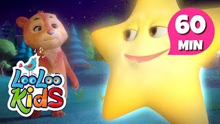 """Subscribe to our channel because new videos are uploaded every week! http://bit.ly/Subscribe_to_LooLooKidsYou are watching """"Twinkle, Twinkle, Little Star"""", a super fun compilation with the best animated nursery rhymes created by LooLoo Kids and Hello Mr. Freckles!Follow us on Facebook for new updates! https://www.facebook.com/LooLooKids/Tweet to us! https://twitter.com/loolookidsWe are always happy to hear from you! Please share your feedback on our nursery rhymes in the comments or through our social media!Go to your favorite song by selecting a title below!0:00 Twinkle, Twinkle, Little Star 2:01 If You're Happy and You Know It 3:41 Rain, Rain, Go Away 5:56 Five Little Monkeys 8:09 Sleeping Bunnies 10:00 The ABC Song 11:19 Old MacDonald Had a Farm 12:37 Baa, Baa, Black Sheep 13:47 Hickory Dickory Dock 16:12 The Wheels On The Bus (Hello Mr. Freckles!) 18:19 Humpty Dumpty 19:34 Ten in a Bed 22:00 BINGO 23:57 Five Little Ducks 25:31 Itsy Bitsy Spider (Hello Mr. Freckles!) 27:19 Head, Shoulders, Knees and Toes 28:46 Old MacDonald Had a Farm (Hello Mr. Freckles!) 30:04 Bingo (Hello Mr. Freckles!) 32:28 I'm a Little Teapot 33:42 Johny Johny Yes Papa 35:12 Head, Shoulders, Knees and Toes (Hello Mr. Freckles!) 37:14 Mary Had a Little Lamb 39:24 Row Your Boat (Hello Mr. Freckles!) 41:24 Miss Polly Had a Dolly 42:46 Five Little Ducks (Hello Mr. Freckles!) 45:08 Once I Caught a Fish Alive 47:06 One, Two, Buckle My Shoe 48:05 Pat-a-Cake 49:02 If You're Happy and You Know It (Hello Mr. Freckles!) 51:03 Twinkle, Twinkle, Little Star (Hello Mr. Freckles!) 53:32 The Finger Family 54:34 The Wheels On The Bus 56:39 Three Little KittensTwinkle, Twinkle, Little Star LyricsTwinkle, twinkle, little starHow I wonder what you areUp above the world so highLike a diamond in the skyTwinkle, twinkle little starHow I wonder what you areWhen the blazing sun is goneWhen he nothing shines uponThen you show your little lightTwinkle, twinkle, all the nightTwinkle, twinkle, little starHow I wonder w"""