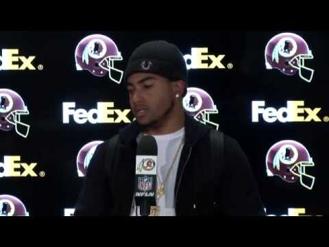 Conference - WR DeSean Jackson takes the podium following the Redskins vs. Eagles game at FedExField on Saturday, December 20, 2014.