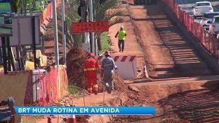 Obras do BRT causam transtornos e geram reclamações em Sorocaba