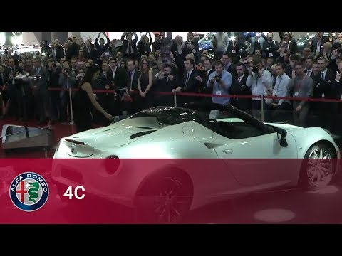 The New Alfa Romeo 4C Spider - Reveal at Geneva 2014