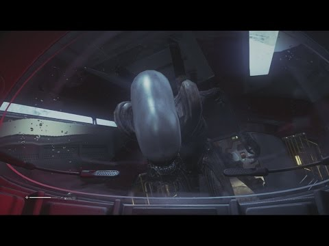 Alien Isolation Xenomorph Alien Death / Amanda Kills The Xenomorph (Ejects it into space)