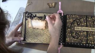 Part 17 How to build a photo mini album. Welcome to part 17 .In this video we are going to put on the covers on,bind the album together and put papers on the...