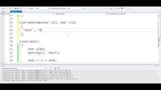 char arrays - 9 Examples 6  pb9 a b c implement strcmp