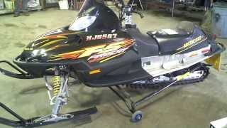 2. LOT 1759A 2003 Arctic Cat Firecat 500 Carb F5 Sno Pro Tear Down