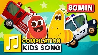 Video WHEELS ON THE CAR and other songs | 75 min | LARVA KIDS | Nursery Rhyme for kids MP3, 3GP, MP4, WEBM, AVI, FLV Juni 2019