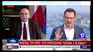 Marszałek Zgorzelski ruga Ziemca i podsumowuje TVP na żywo na wizji.