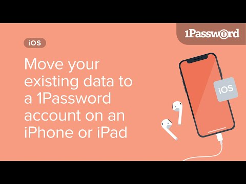 Move your existing 1Password data to a 1Password account on an iPhone or iPad