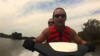 90km/h Jet Ski into bushes