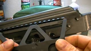 Overview of the Midwest Industries AK 47 optic rail mount.