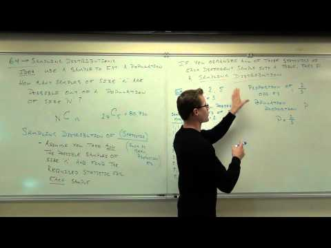 Statistics Lecture 6.4: Sampling Distributions Statistics.  Using Samples to Approx. Populations