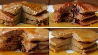 Nutritious Pancakes 4 Ways by Tasty
