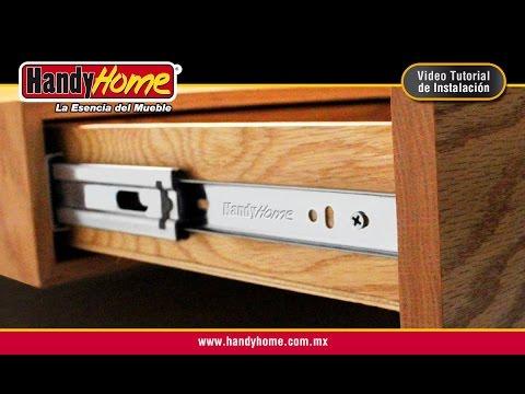 Instalación de corredera de extensión Handy Home para cajón
