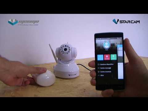Telecamera IP con sistema di allarme integrato