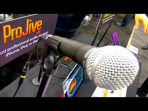 ProJive – Use Your Professional XLR Microphone with Your iPhone, iPad or Android Device