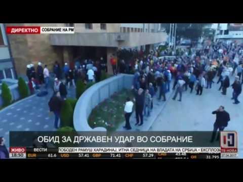 Policija ispraznila zgradu Sobranja, Ivanov pozvao lidere stranaka na konsultacije (FOTO, VIDEO)