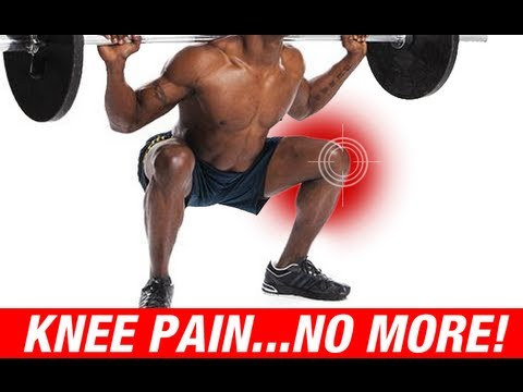how to relieve knee pain from squats