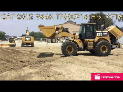 CATERPILLAR CARGADORES DE RUEDAS 966K equipment video kBs8zvQ6sPA
