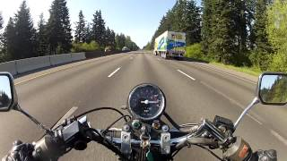 7. Honda Rebel going 85mph!