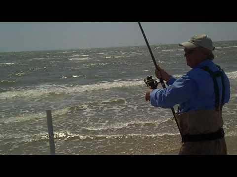SURF FISHING GALVESTON BEACH FRONT