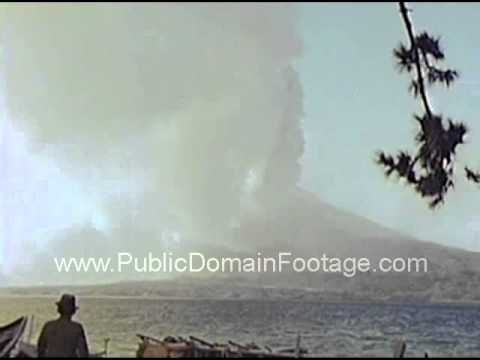 Eruption of Mount Sakaurajima in Japan March 22, 1946 archival footage