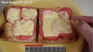 Real Life Minecraft Cooking - Cheese and Tomato Toasted Sandwich
