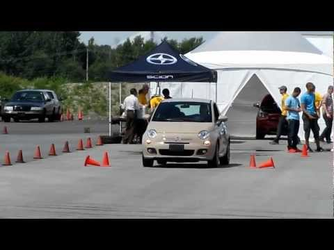 Acceralation, braking and turning radius test for the Fiat 500