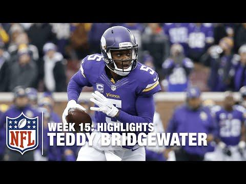 Teddy Bridgewater's 4 TD Day   Bears vs Vikings   NFL Week 15 highlight