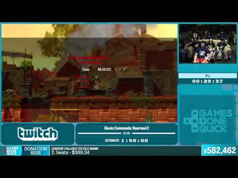 Bionic Commando: Rearmed 2 By PJ In 1:35:33 - Summer Games Done Quick 2015 - Part 125
