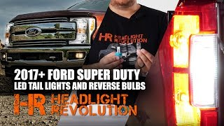 Do you want to have brighter reverse lights? We have some INSANELY bright options! These ones are easily twice as bright as other LED bulbs and way brighter than stock!LED Reverse Lights Kit:https://headlightrevolution.com/products.php?product=2017%252b-Ford-F250-F350-Super-Duty-LED-Reverse-Light-Bulbs-Upgrade-Kit-%284-Bulbs%29LED Tail Light Bulbs Kit:https://headlightrevolution.com/products.php?product=2017%252b-Ford-F250-F350-Super-Duty-LED-Tail-Light-Bulbs-Upgrade-Kit-%284-Bulbs%29In this video we show you how to go about replacing your old incandescent style tail light and reverse bulbs with new high output LED bulbs. They are brighter, look better, and will help others see you. The LED brake lights give you that instant-on-instant-off effect that you want on your new truck. The LED reverse lights are super crazy bright that you'll be able to see further behind your truck and others will be able to notice you sooner also. It's a win-win!Follow our instructions in the video on how to do the install yourself!