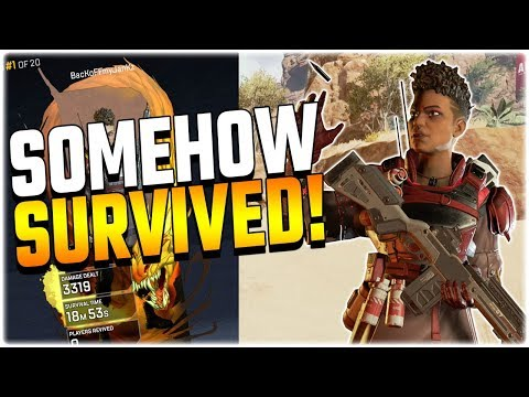 I can't believe I survived the start of this match.. (Apex Legends PS4) видео
