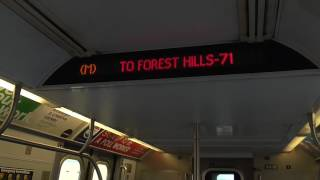 Due to long term construction until April 2018, there will be no M trains runnin' between Myrtle Avenue-Broadway and Middle Village-Metropolitan AvenueM trains will operate between Forest Hills-71 and Myrtle Avenue-Broadway, then rerouted via the J line to Broadway Junction. M train service will now run all day from 5AM until 11PM with no late night service. This is Phase I of the Myrtle Avenue Line reconstruction project which last until September 1Here's my ride on the Manhattan-bound R160A M train towards Myrtle Avenue-Broadway durin' the weekday midday service!Shuttle buses will be provided to replace the loss of M train service at the followin' stations:-Flushing Av J/M/Z Station-Myrtle Av/Broadway J/M/Z Station-Myrtle/Wyckoff Avs L StationFOLLOW ME: Google: http://plus.google.com/+BwayLineEntTwitter: http://twitter.com/BwayLine7795Facebook: http://FB.me/BLETransitInstagram: http://Instagram.com/reggakabwaylineThankx for watchin' and stay tuned for the latest uploads