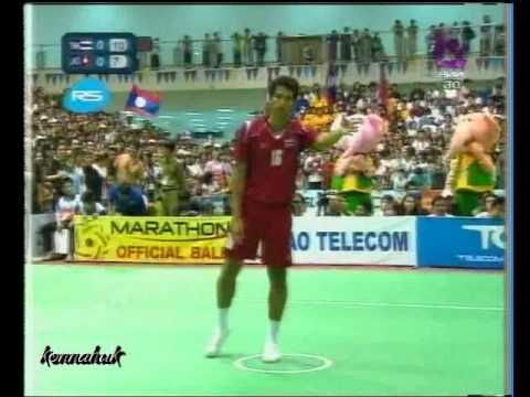 Thailand Vs Laos''Men's Finals''Sepak Takraw Sea Games 2009 Part 2