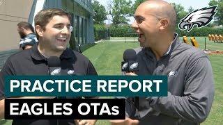 Zach Ertz & Dallas Goedert Dominate OTAs | Eagles Practice Report