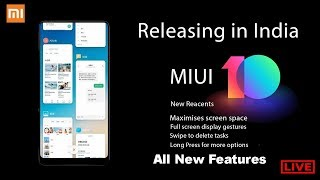 MIUI 10 Official Live Launch Event in India | All New Features, Specification, Supported Devices, AI