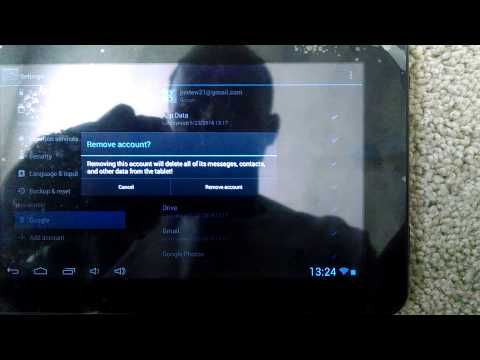 How to Delete Google Account on Android Tablet