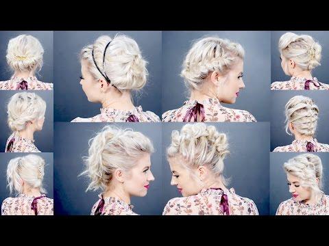 10 EASY UPDO Tutorials FOR SHORT HAIR | Milabu