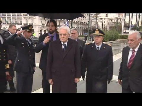 Ο Πρόεδρος της Ιταλικής Δημοκρατίας στο Μνημείο του Αγνώστου Στρατιώτη