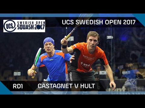 Squash: Castagnet v Hult - UCS Swedish Open 2017 Rd1 Highlights