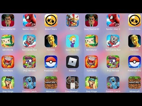 ScaryTeacher,Minecraft,MiniWorld,TomCandy,Fortnite,SaveTheGirl,Branny Craft,Roblox,ZombieCatch,PvZ 2