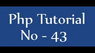 Php Tutorials For Beginners - 43 - Create Database In Php Mysql