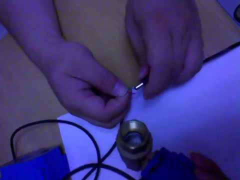 Mini motorized ball valve фотка