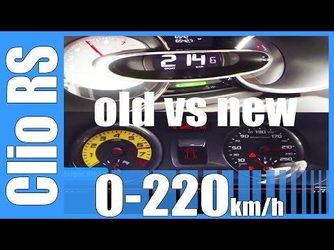 0-220 km/h - renault clio iv rs 200 edc