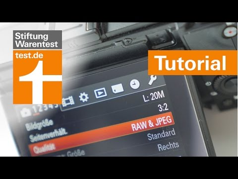 Tutorial: Digicam mit RAW oder JPEG nutzen? Anleitung Kamera einstellen für beste Bildqualität